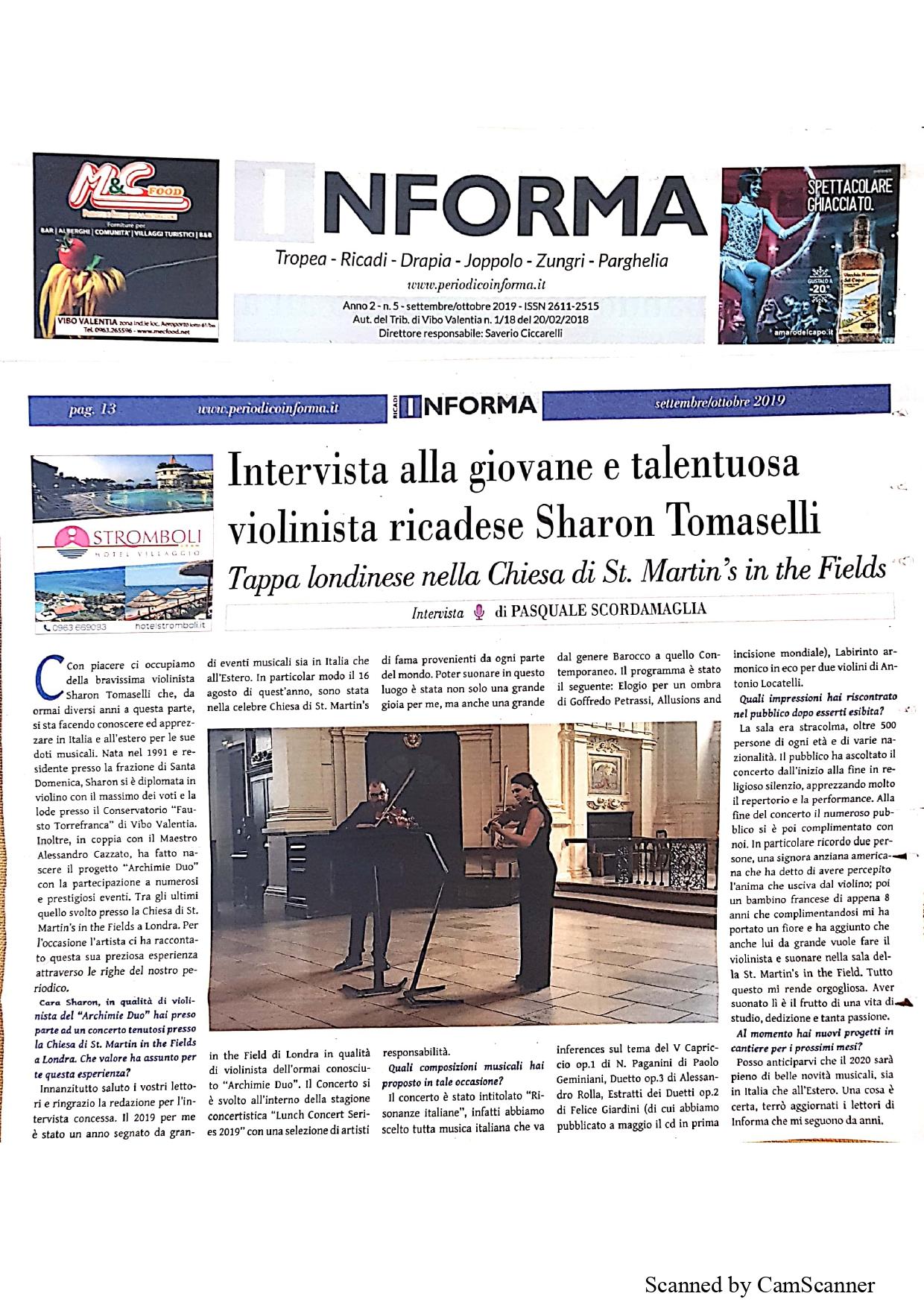 Periodico Informa settembre/ottobre 2019