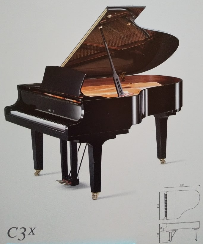 グランドピアノの弾き比べ♪その1・YAMAHAのC3