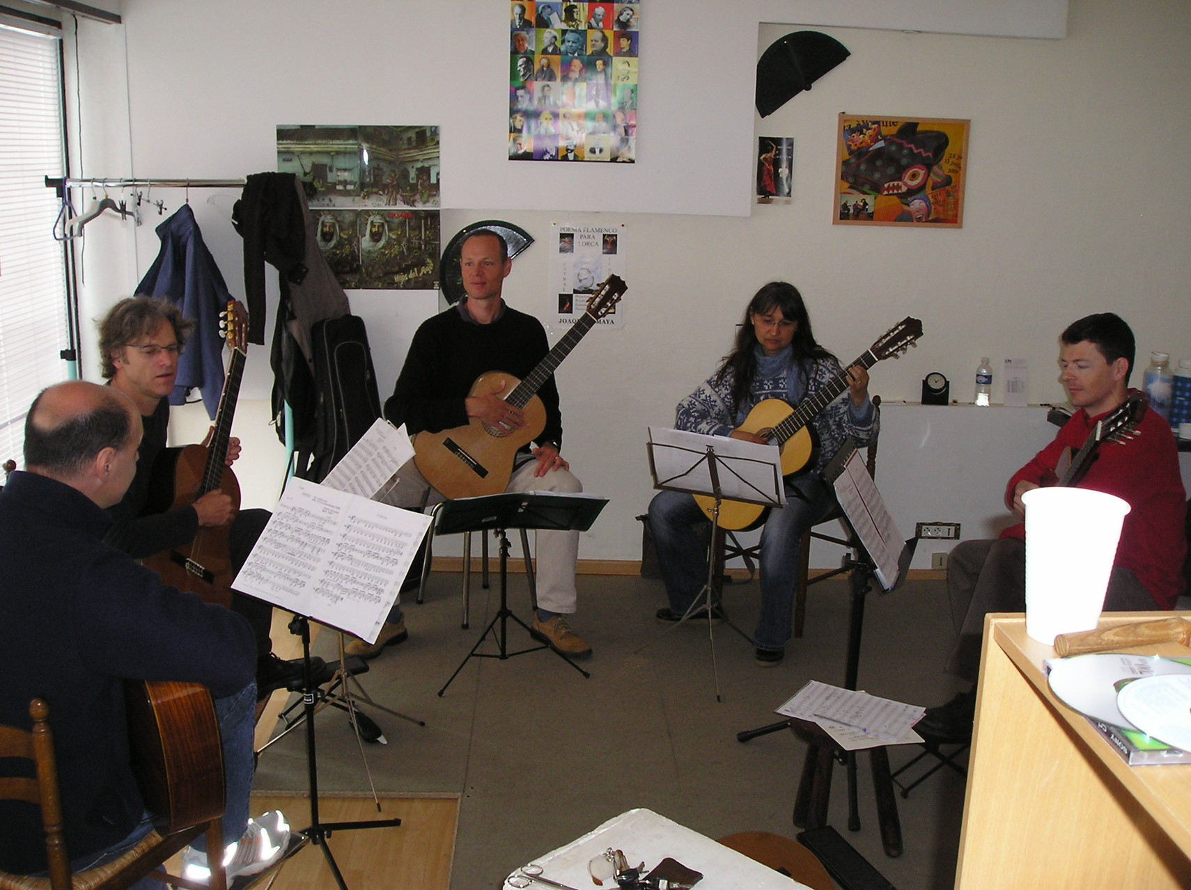 ensemble de guitares adultes, Grenoble 2009