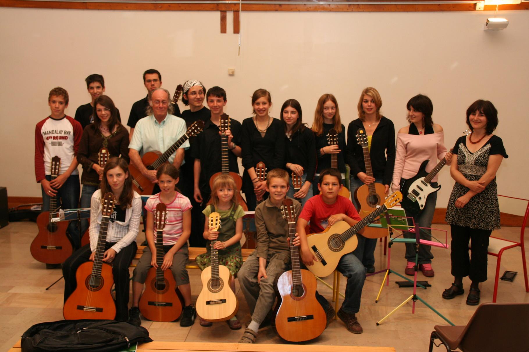 concert des élèves de l´école de musique de St. Marie d´Alloix, juin 2008