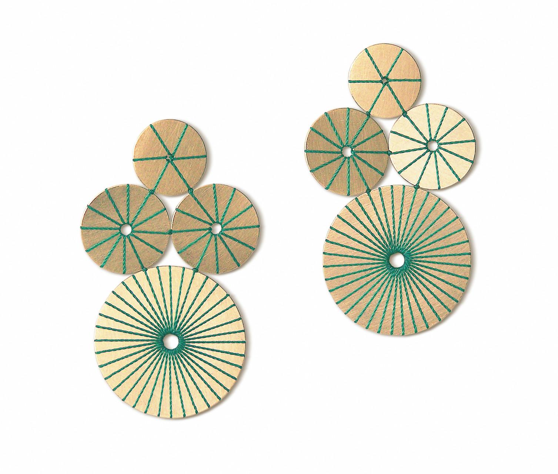 sterntaler 2 :  gold + seide smaragdgrün
