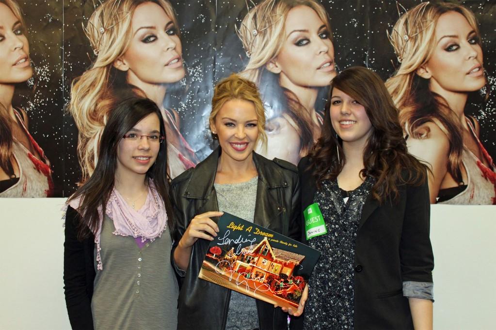 Prominente Unterstützung 2010 - Kim, Kylie Minouge und Janine