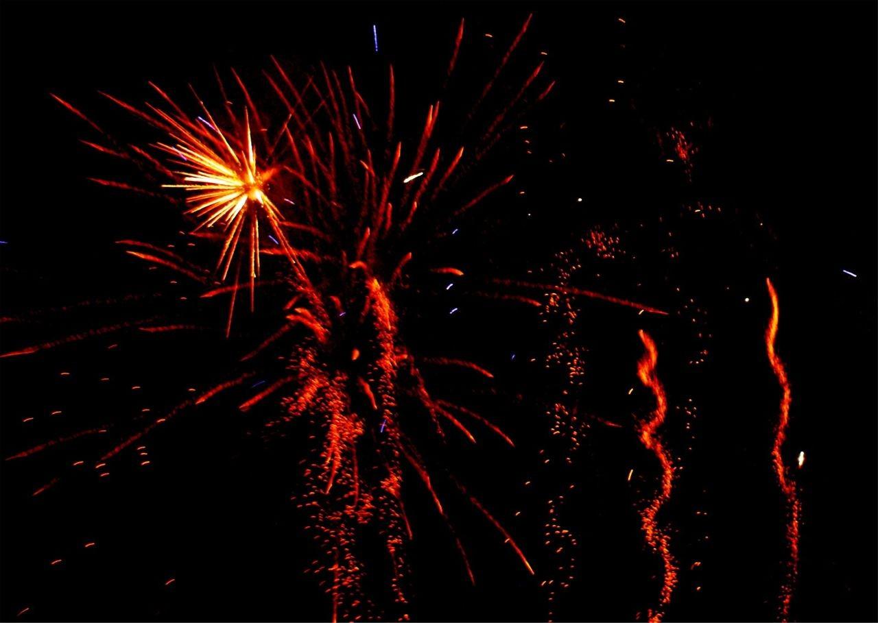 wunderschönes Feuerwerk ...
