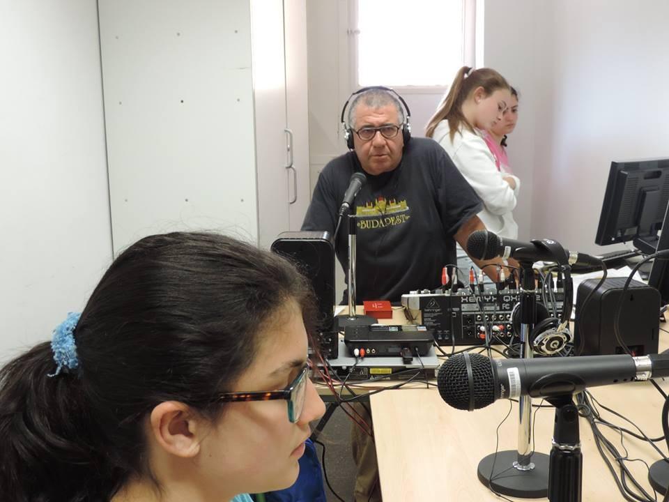 En plena grabación del 1º Programa