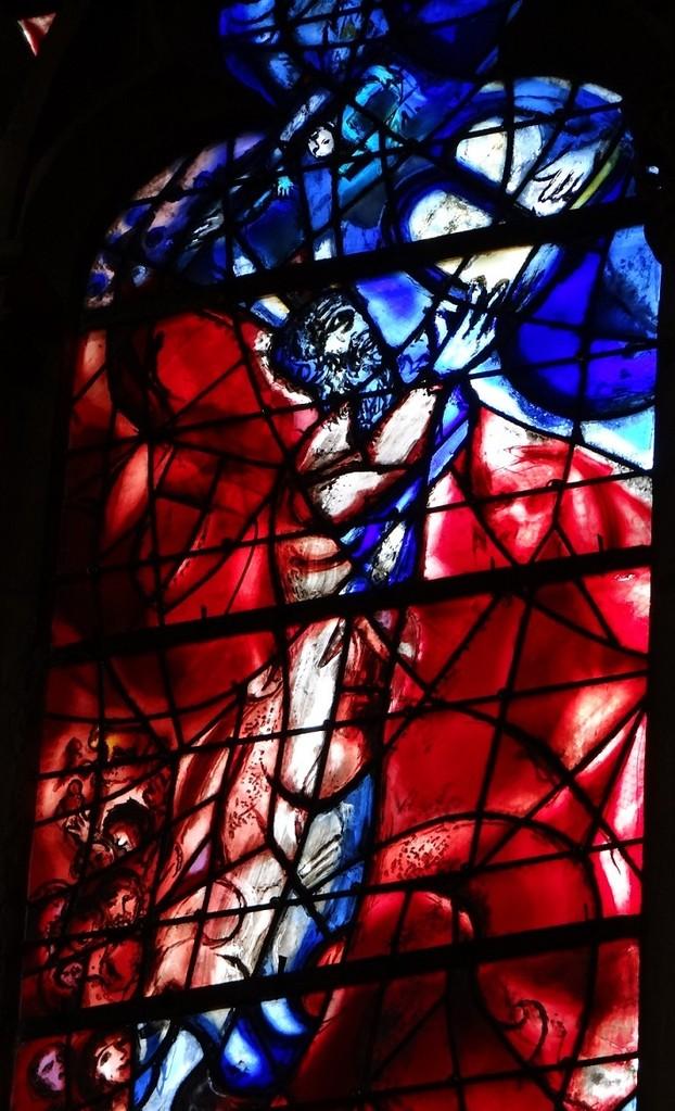 シャガール作品2 下部左「十戒を受けるモーセ」