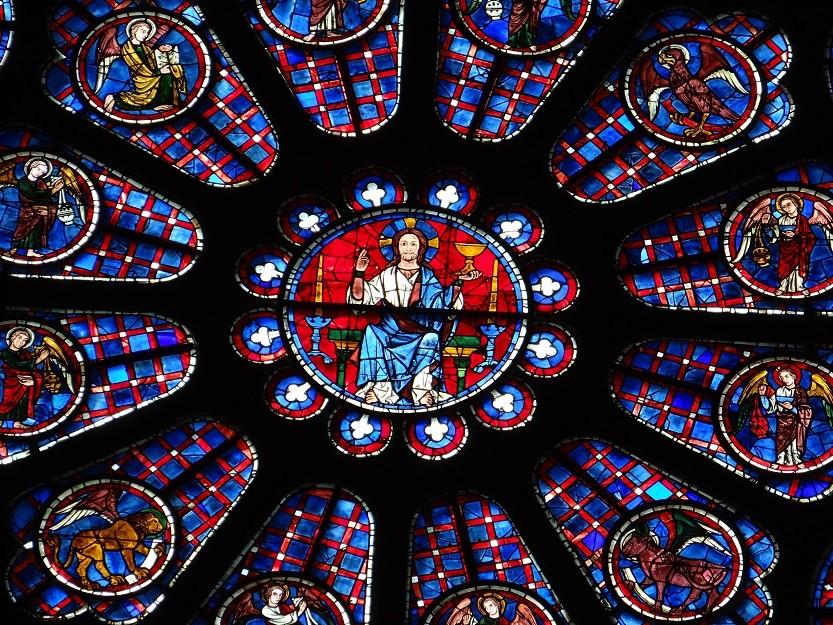 側面バラ窓(1)の中心部