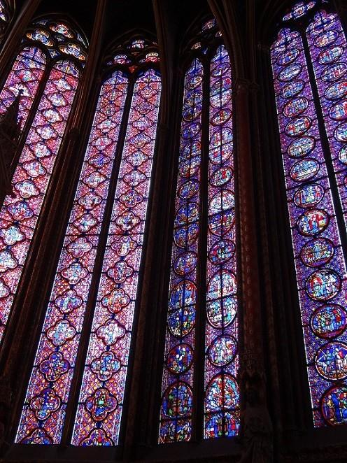 サントシャペル 2階ステンドグラス