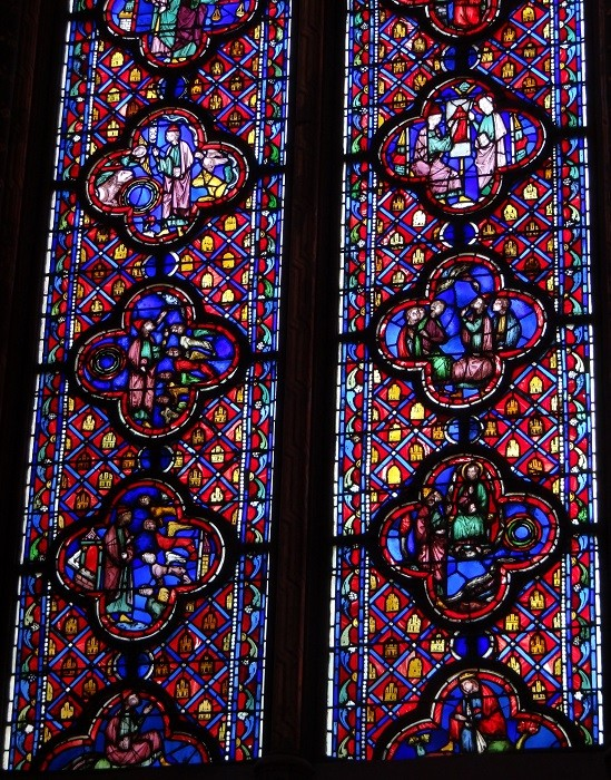 サントシャペル 2階ステンドグラス(部分)