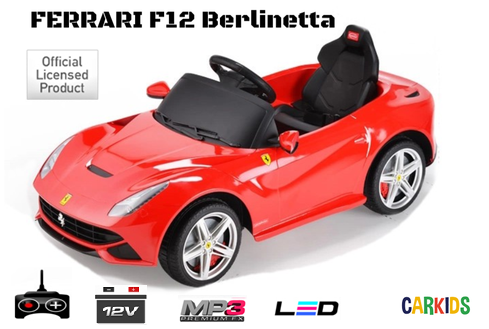 ferrari f12 rouge cr ateur de bonheur voitures lectriques pour b b s et. Black Bedroom Furniture Sets. Home Design Ideas
