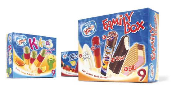 SCHÖLLER - Frubetto - Kaktus - leichter Genuss - Eis - Family Boxen - Packaging - Design - Entwicklung - DesignKis - 2006 - Verpackung