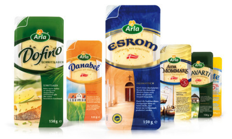 Arla - Scheibenkäse - Yellow Cheese - Dofino - Danabel - Esrom - Havarti - Alter Mommark -  - Packaging - Design - 2009 - Verpackung