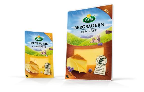 Arla - Bergbauern - Käse - Bergkäse - Emmentaler - DesignKis  - Packaging - Design - 2012 - Verpackung