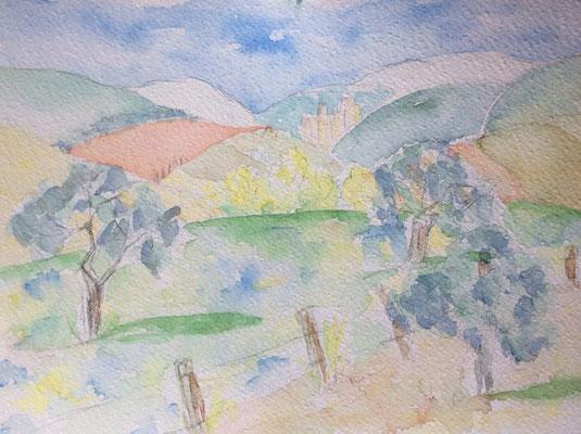 2002 Blick auf San Gimignano Nr. 174 30x22,5