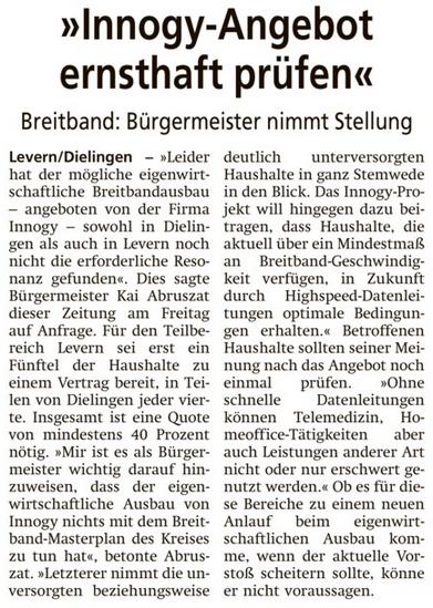 Diepholzer Kreisblatt vom 3.8.2019