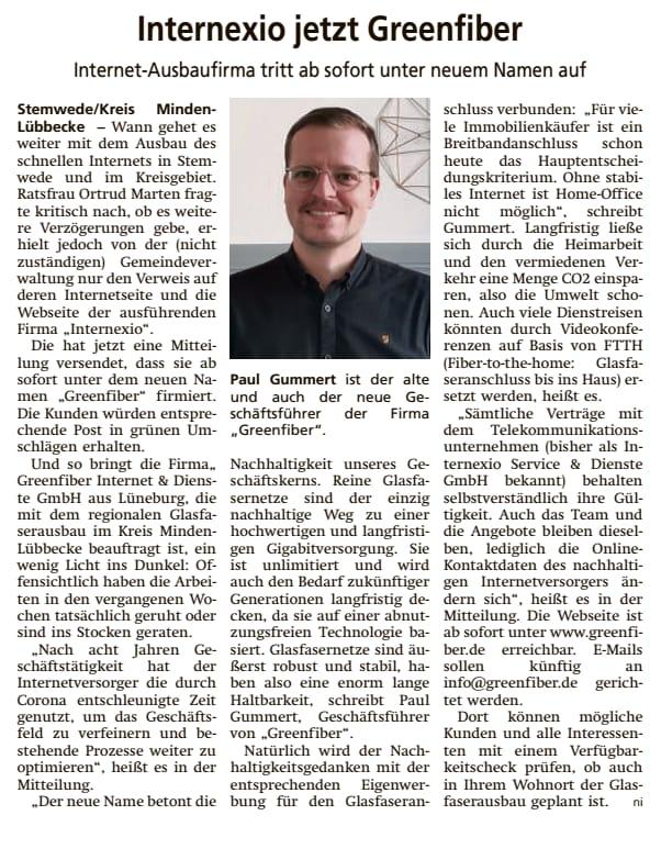 Diepholzer Kreisblatt vom 2.5.2020