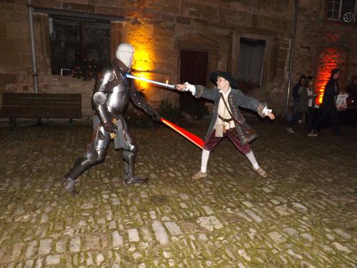 combat au sabre laser au château sainte sixte de freistroff