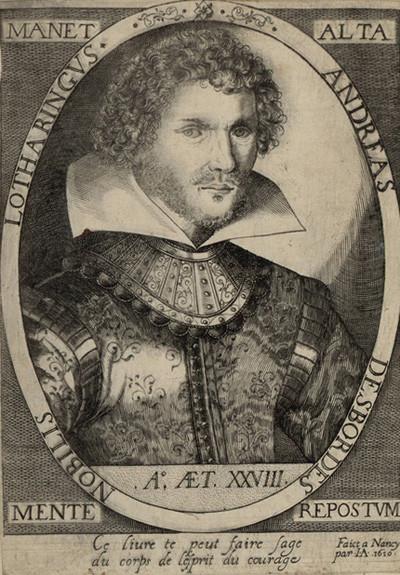 andré desbordes maître d'armes du Duc de Lorraine Henri III