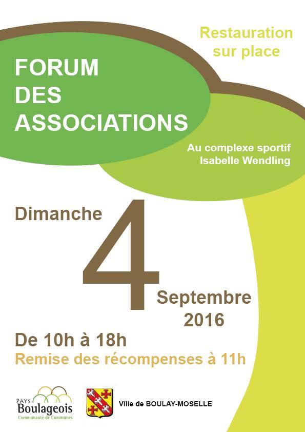 Retrouvez-nous le 4 septembre lors du forum des association de Boulay-Moselle