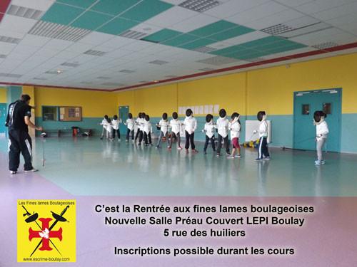 Nouvelle Salle d'armes au LEPI 5 Rue des Huiliers, reprise des cours le 8 septembre 2015
