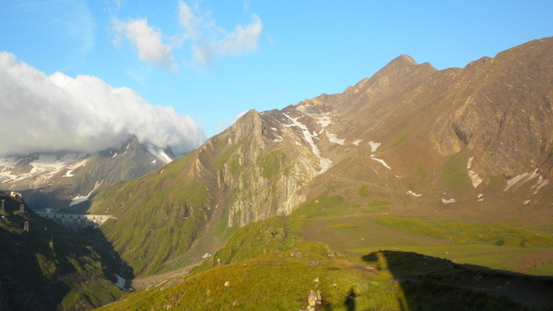 Blick zum Passo dei Camosci.....vom Gletscher ist nicht mehr viel übrig