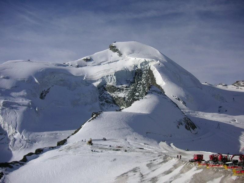 Allalinhorn vom Mittel Allalin aus gesehen