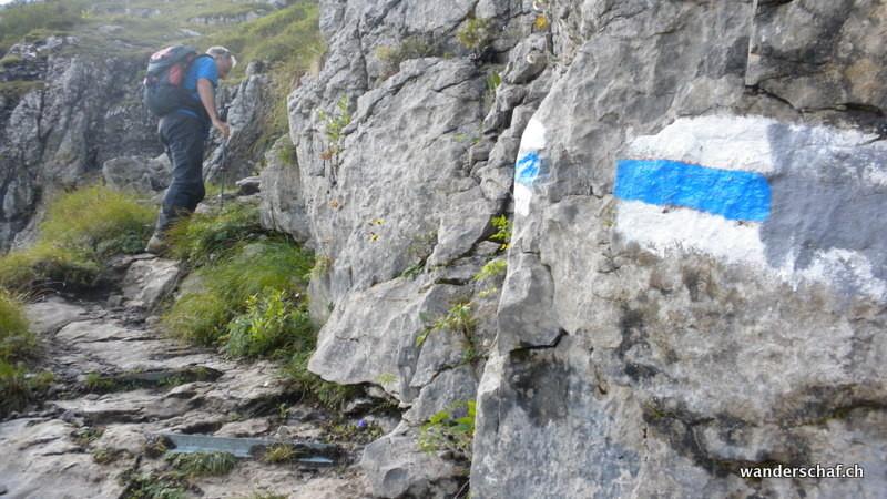 die Alpine Route ist hier gut eingerichtet
