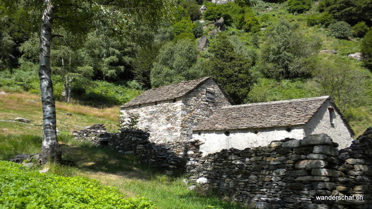 Bivacco Alpe Pian di Boit, wo sich ein Pfadi-Lager eingerichtet hat