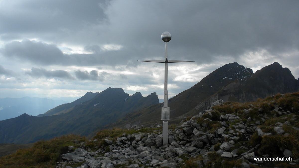 spezielles Gipfelkreuz auf dem Margelchopf
