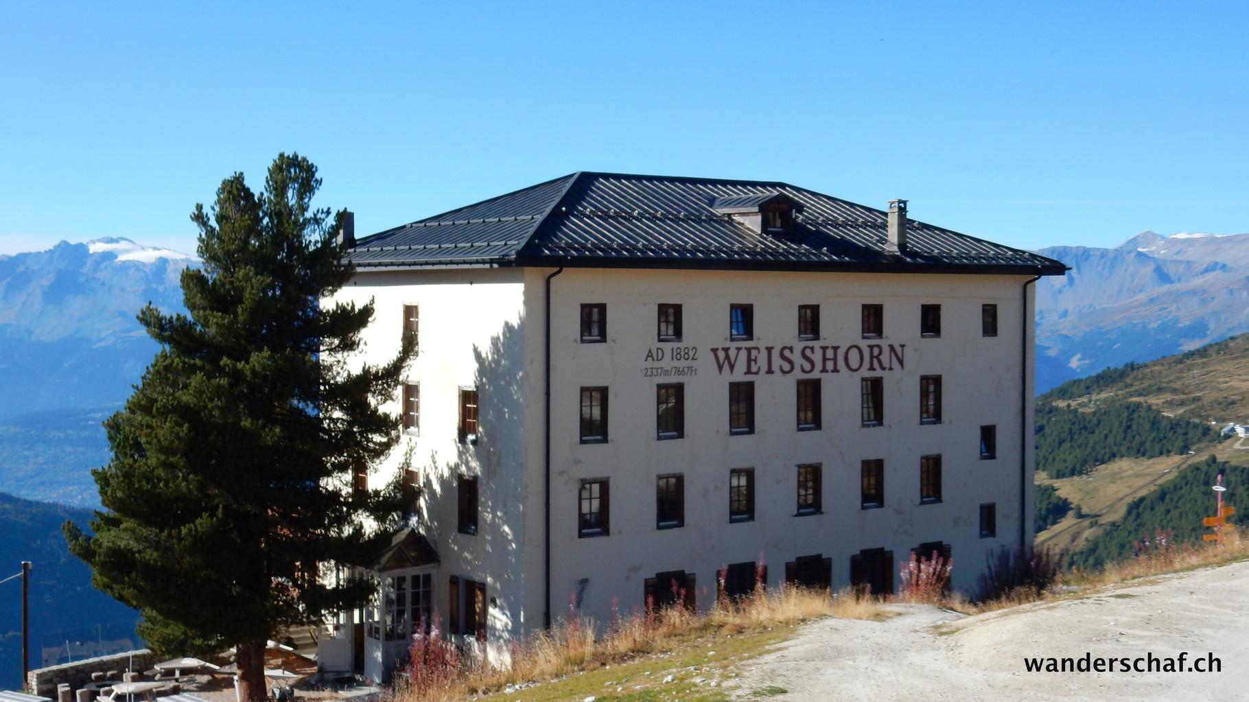 Ankunft beim Hotel Weisshorn