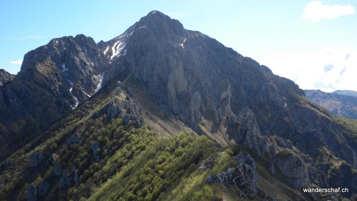 Blick Richtung Grignetta und Rifugio Rosalba
