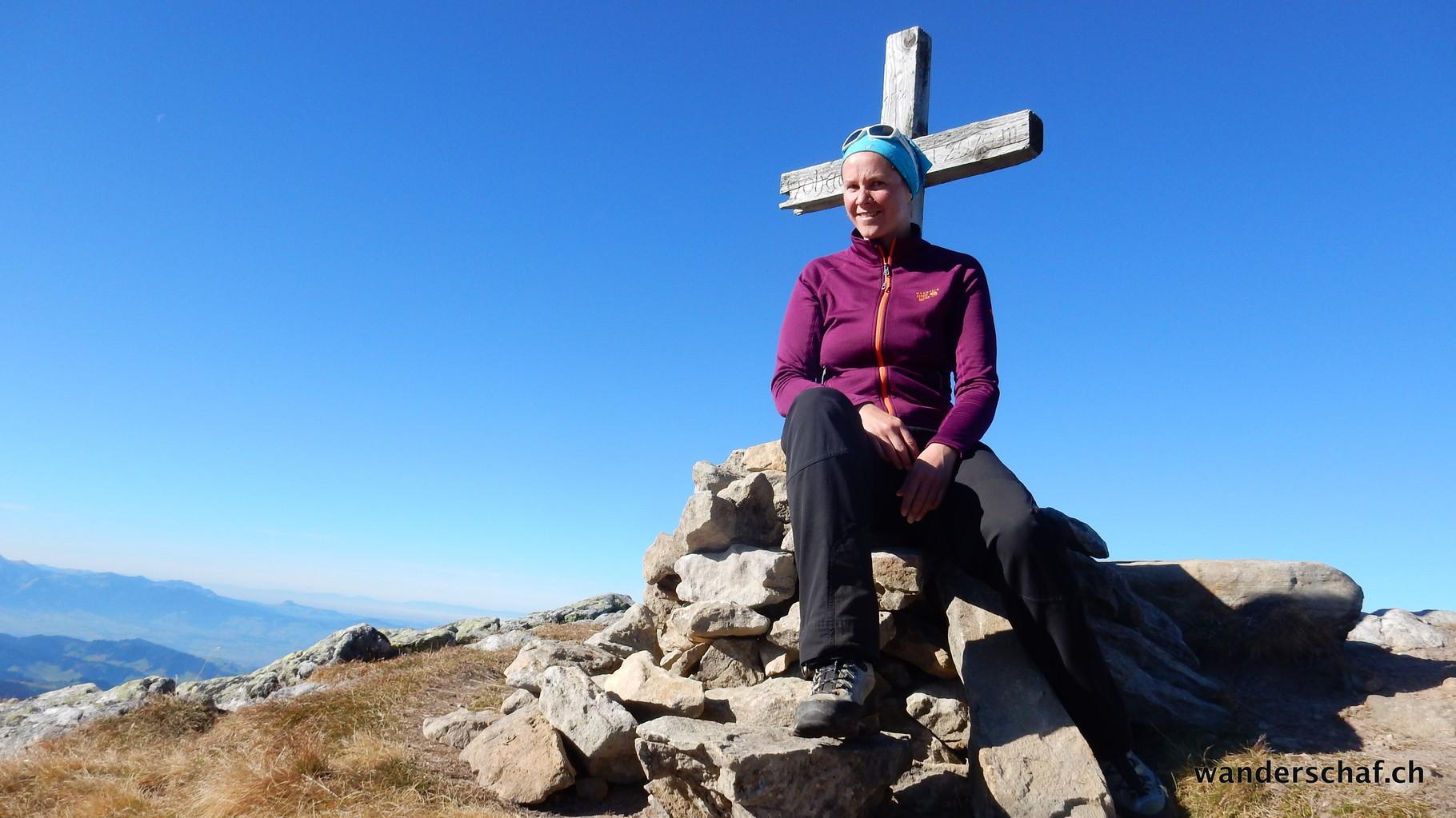 einsames Gipfelglück auf dem Westgipfel vom Hohgant