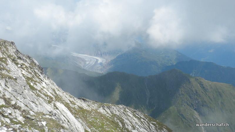 Aletschgletscher in Sicht