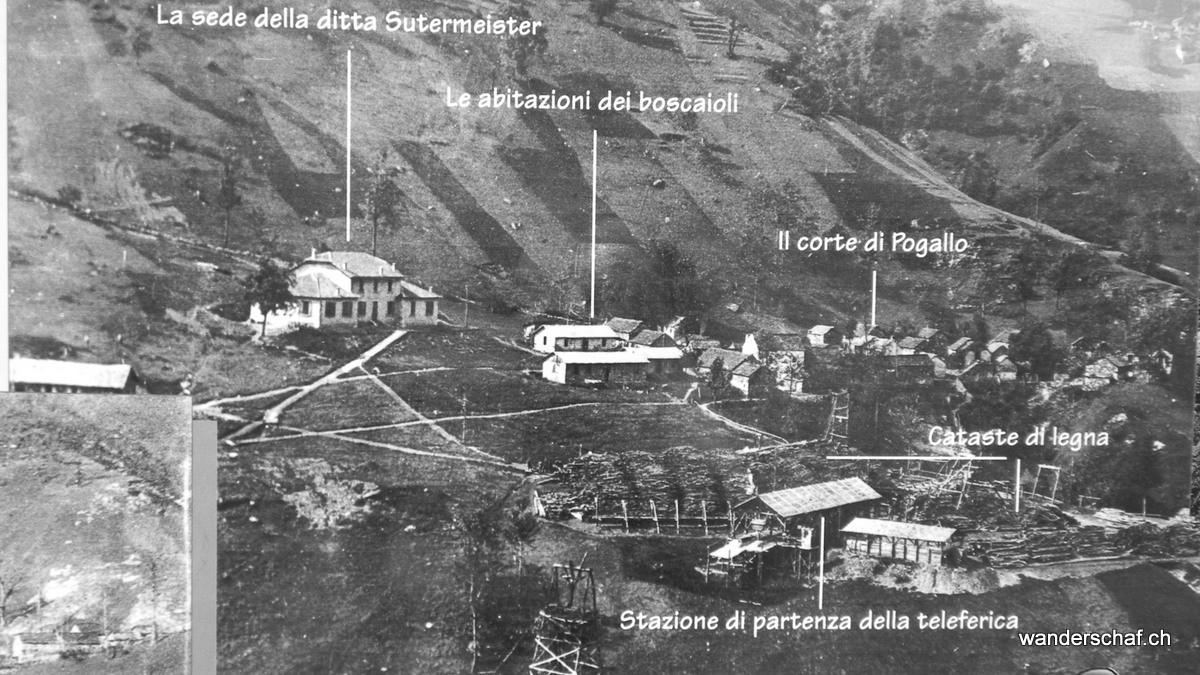 Pogallo war einst ein richtiges Dorf mit Beizen, Läden, einer Schule und sogar Polizeiposten mit Gefängnis