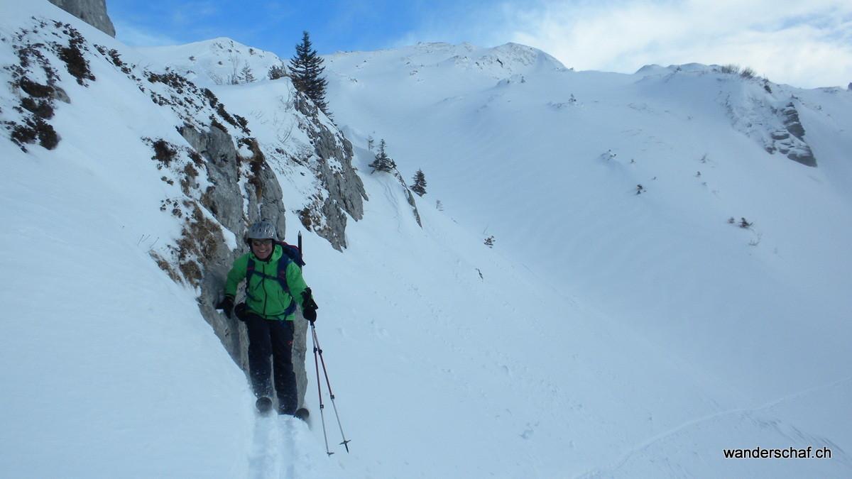 am Skitouren-Klettern ;o)