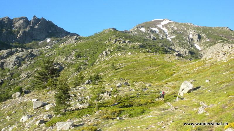 im Aufstieg bei der Alpe Timozzu