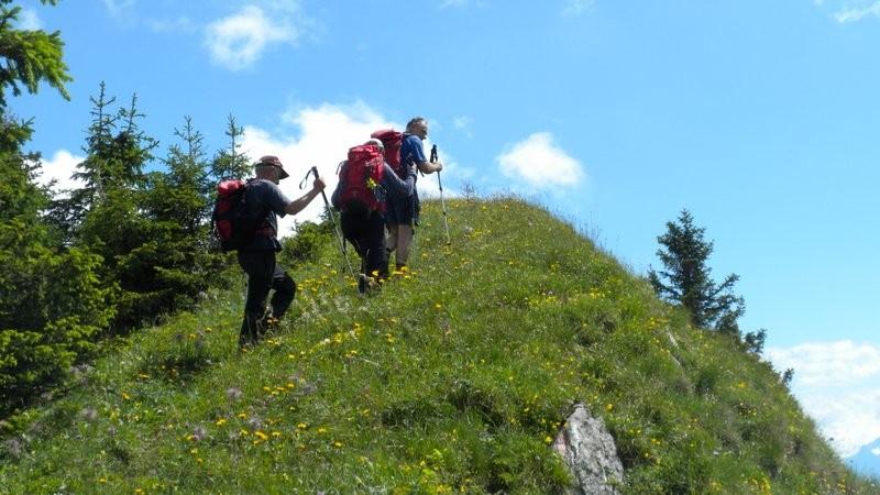 im Aufstieg zum Cheibenhorn