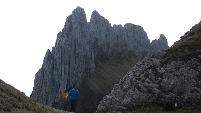 in der Saxerlücke mit den Chrüzbergen im Hintergrund