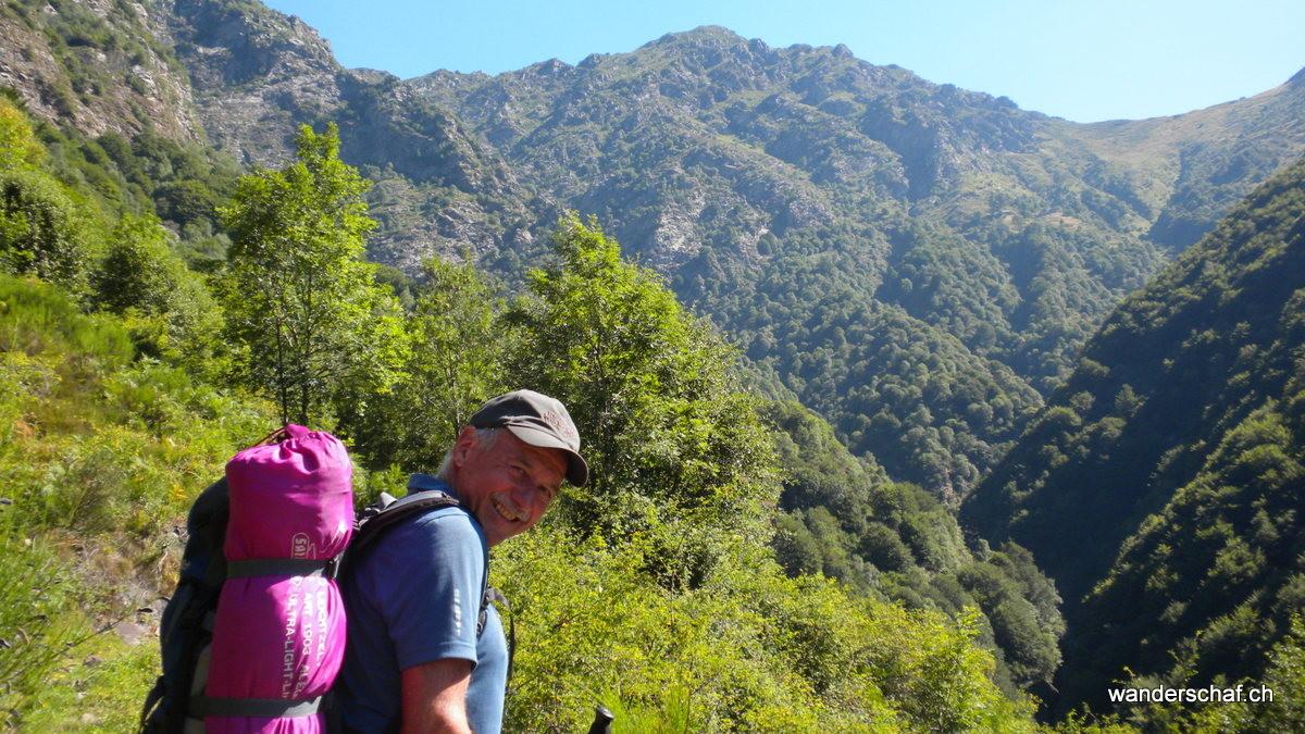 Blick zurück zur Alpe delle Colma