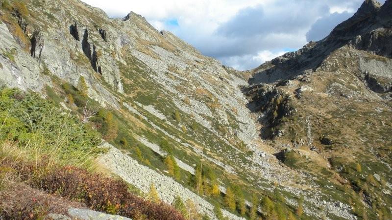 Blick zurück zum Passo dei due Laghi