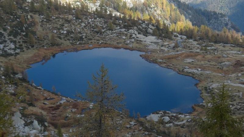 der Lago dal Starlaresc da Sgióf vom Passo Deva aus gesehen