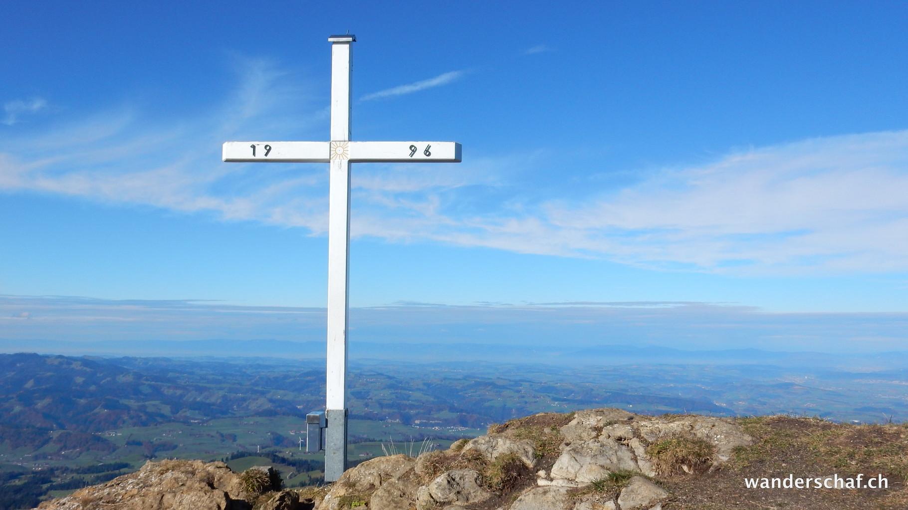auf dem Blaue Tosse oder gemäss Gipfelbuch auf dem Risetestock