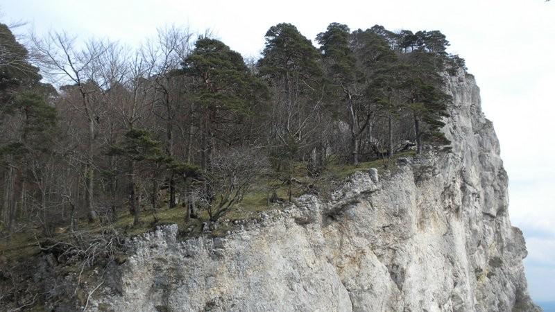 entlang dieser Kante führt der Bergweg
