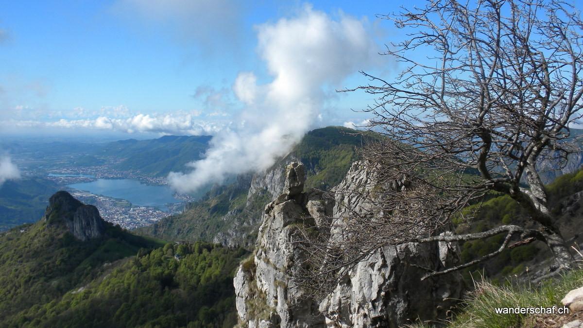Tiefblick nach Lecco runter
