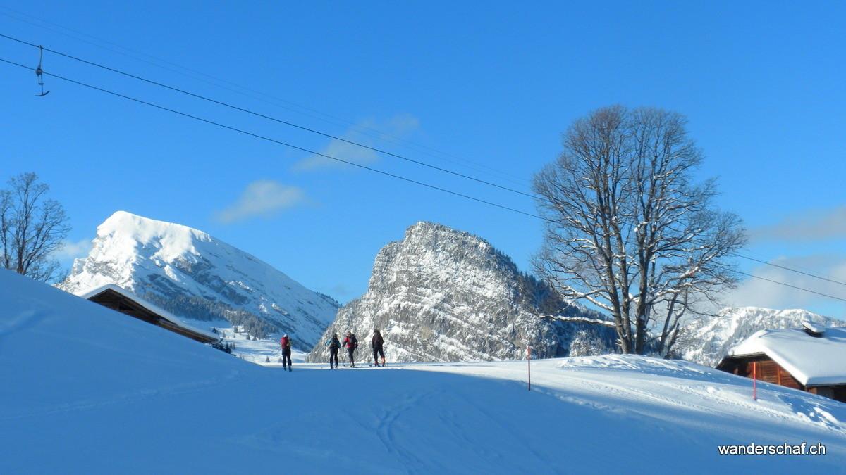 Start beim Skilift Springenboden