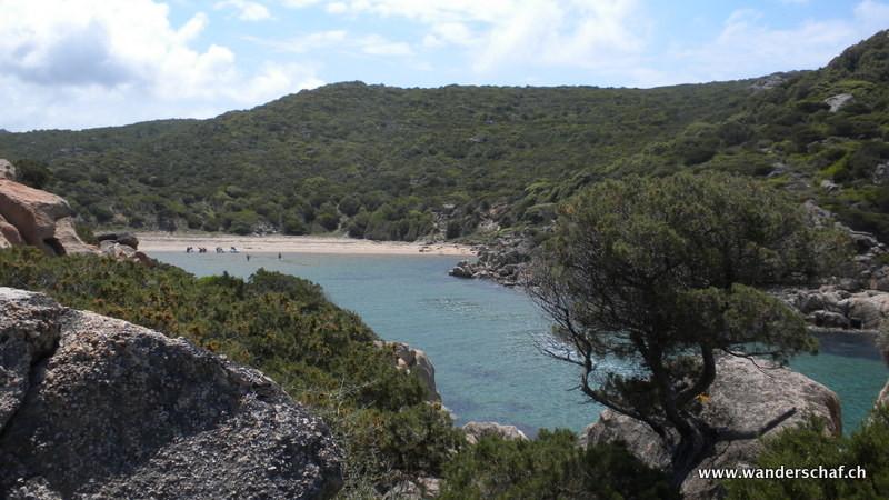 in dieser schönen Bucht Cala d'Aguglia geniessen wir die Einsamkeit