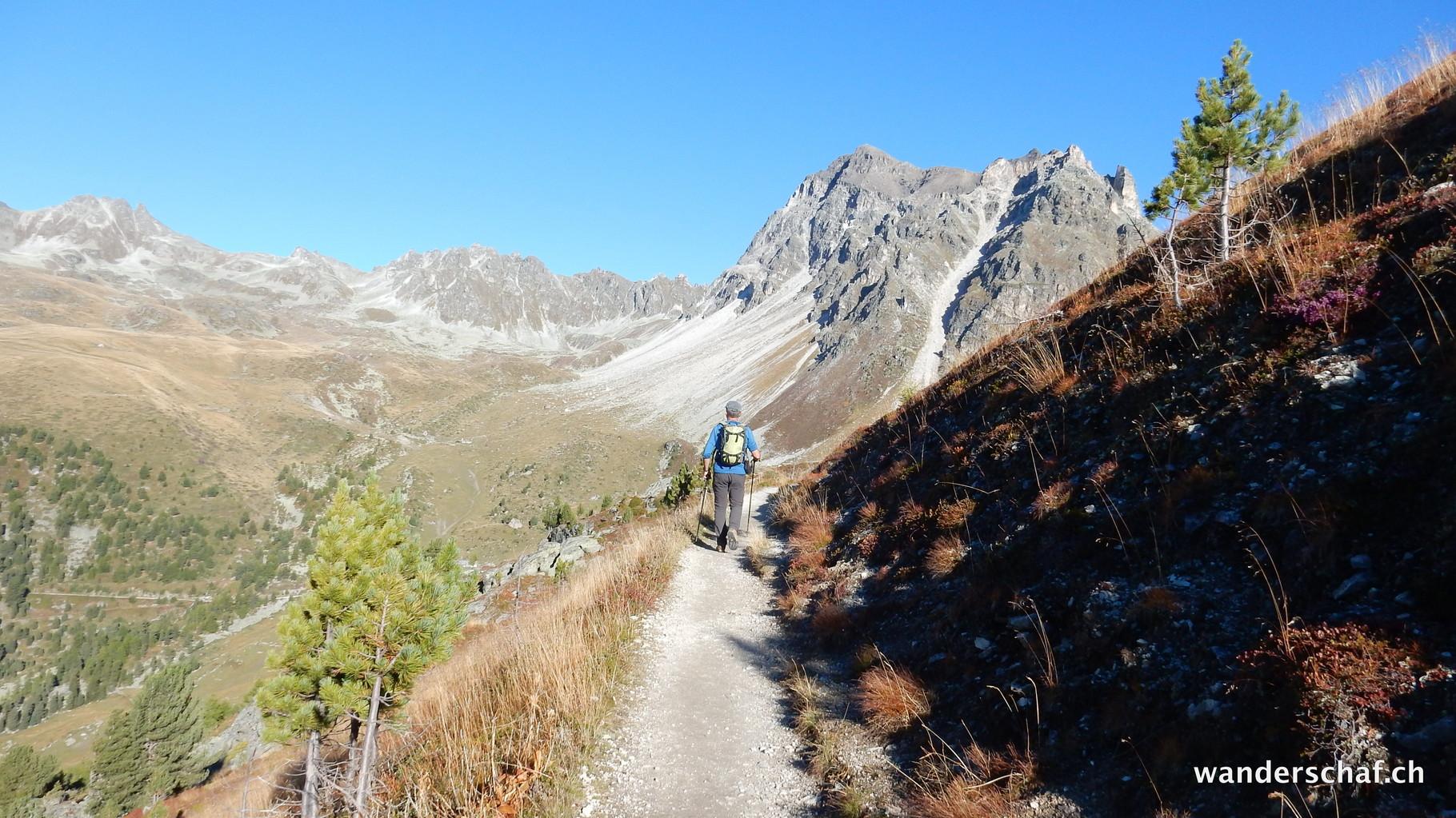 Abstieg via les Cascades du Prilet
