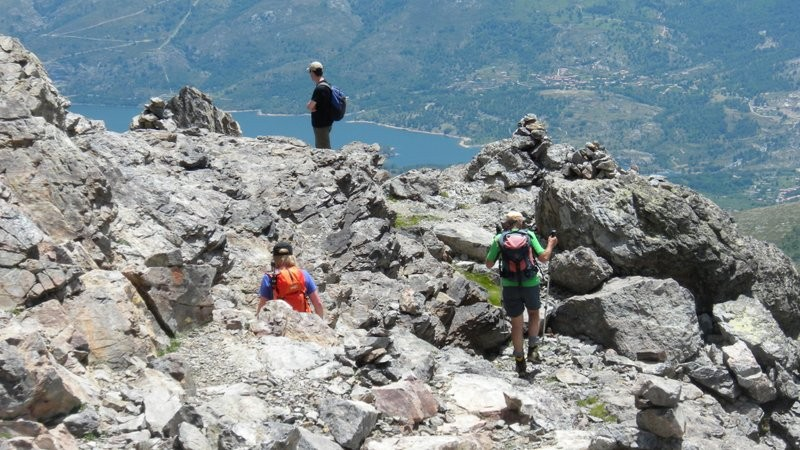 im Abstieg auf der Normalroute Richtung Refuge de l'Erco