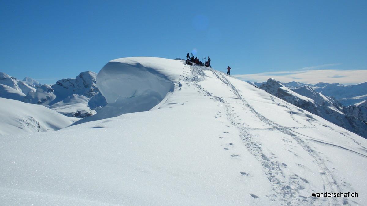 die Gipfelwächte auf der Chumigalm