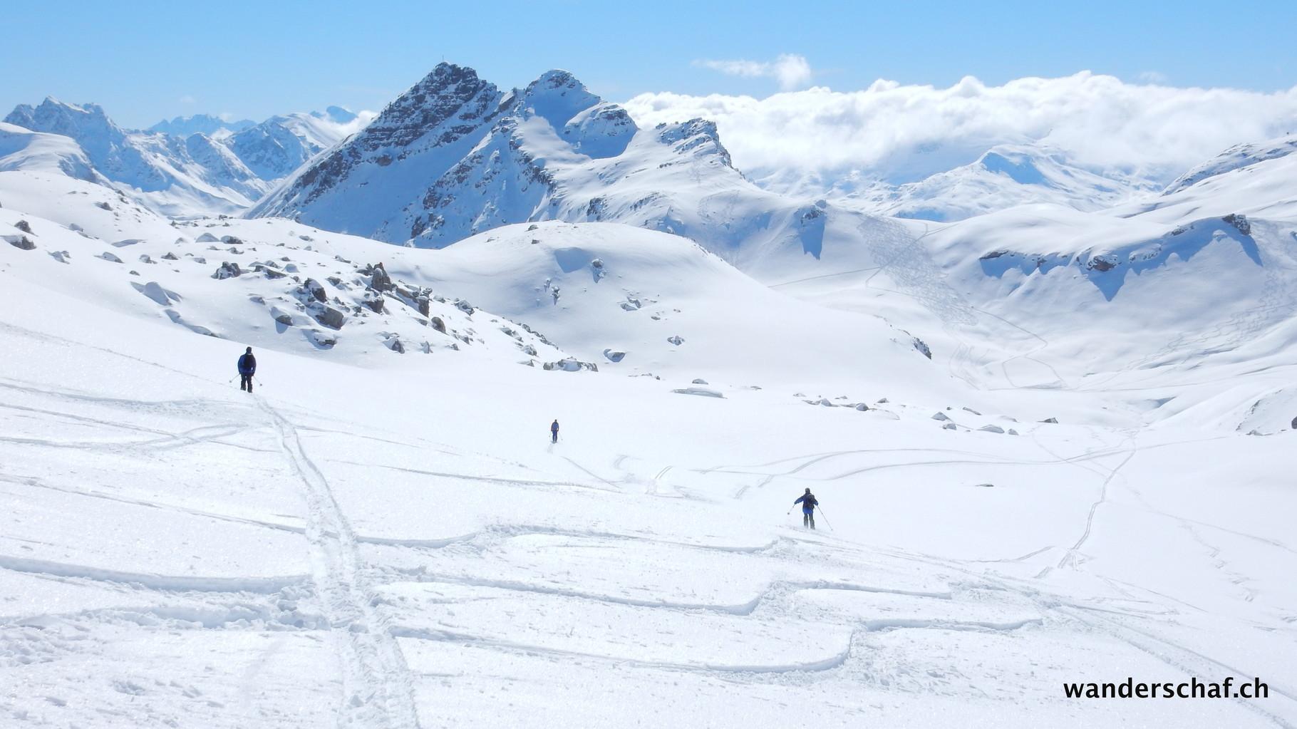 tolle Abfahrt durchs Val d'Agnel