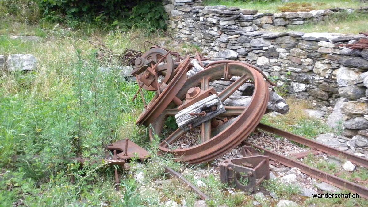 Überbleibsel der damaligen Holzerseilbahn
